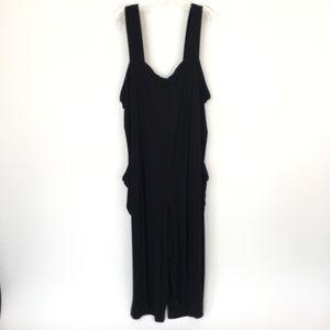 Eileen Fisher size 1X black jersey tank top romper
